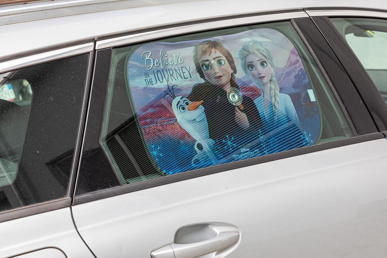 Vorhang-Seite-Sonnenschirm-Auto-Single-Gefroren-Anna-amp-Elsa-Maedchen-Disney Indexbild 2