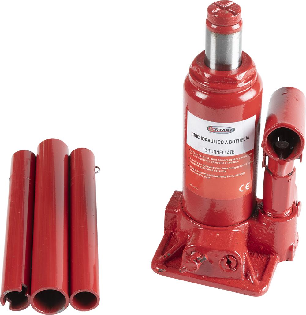 Crick idraulico a bottiglia sollevamento massimo 8T emergenza START