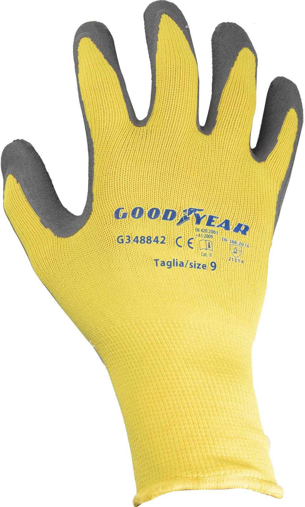 XL XXL 240 paia di gomma in lattice rivestito guanti da lavoro sicuro Grip Nero TAGLIA: S L M